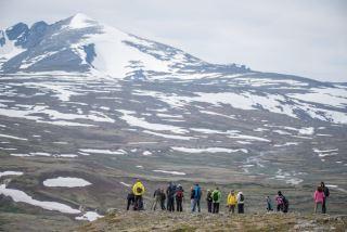 The magnificent view against Snøhetta