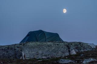Sleeping under the moon
