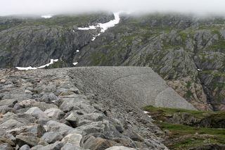 Storglomvassdammen på Glomfjellet