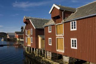 Bryggene i Rørvik sentrum