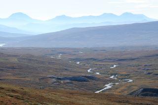 The beautiful landscape of Dovrefjell..
