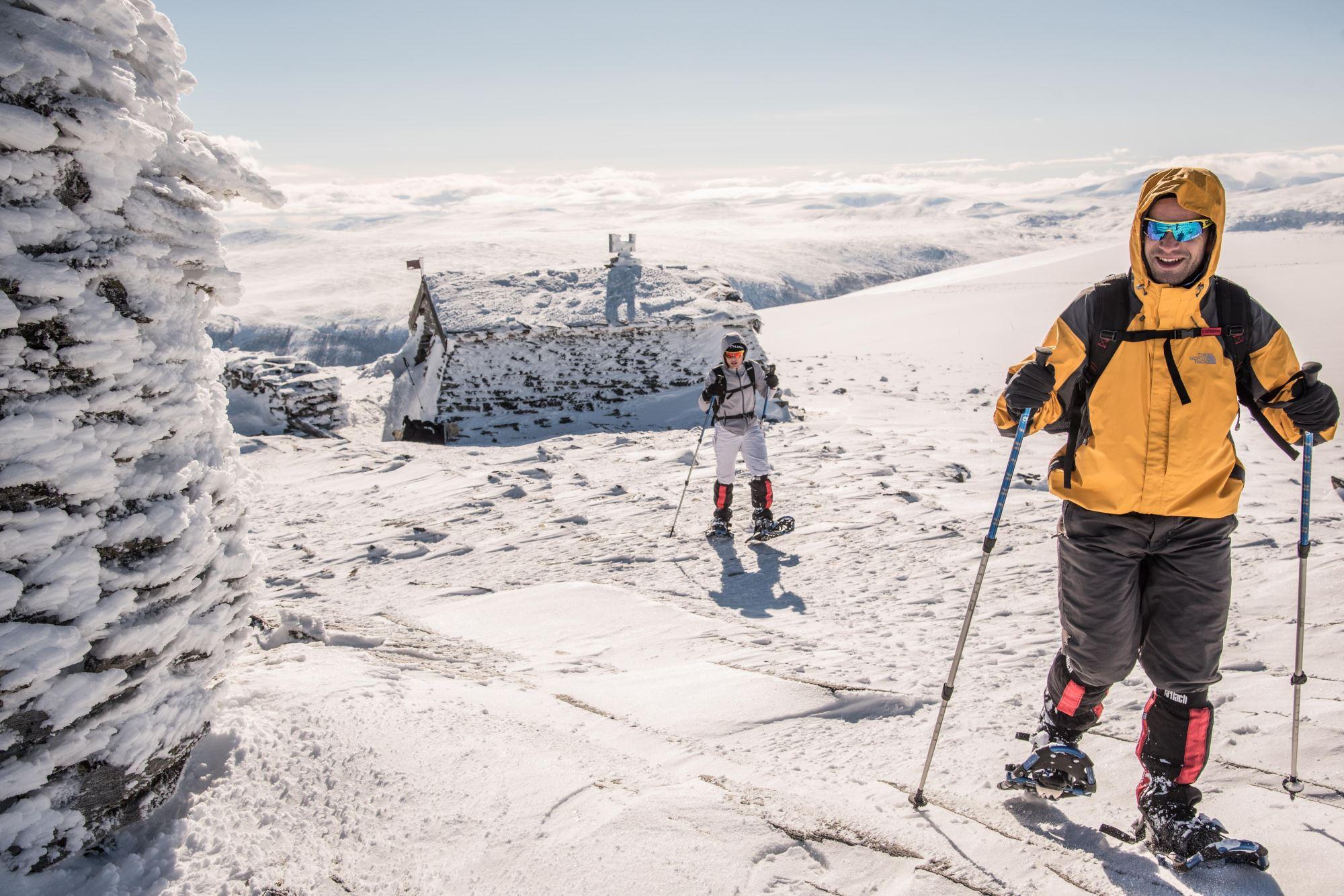 Persönliche Guide - winterlichen Gebirge