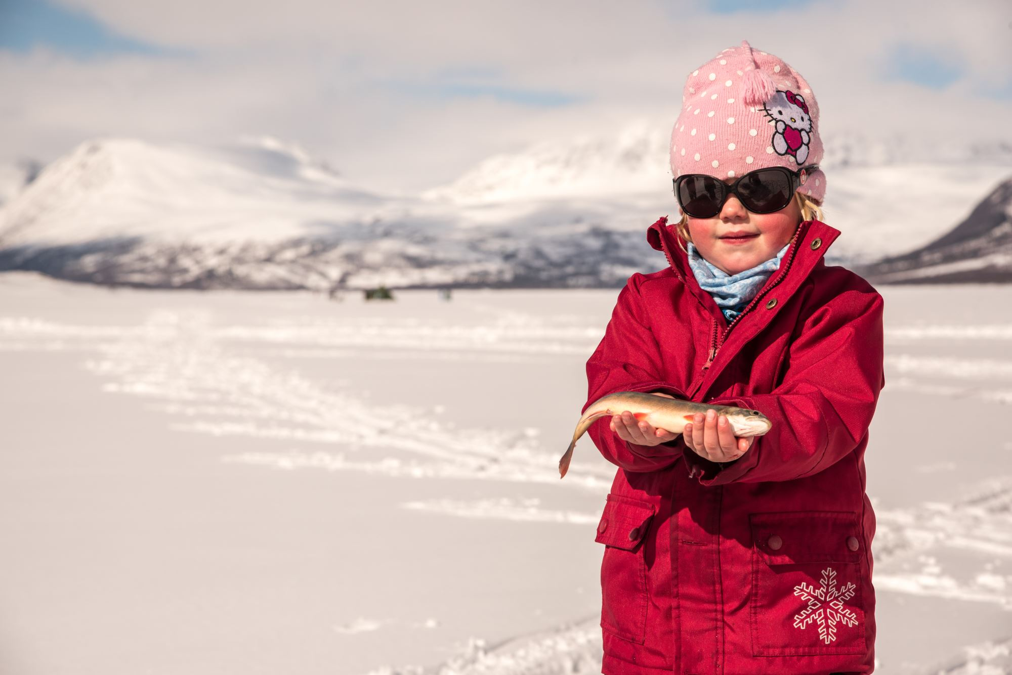 Ice fishing with your personal guide