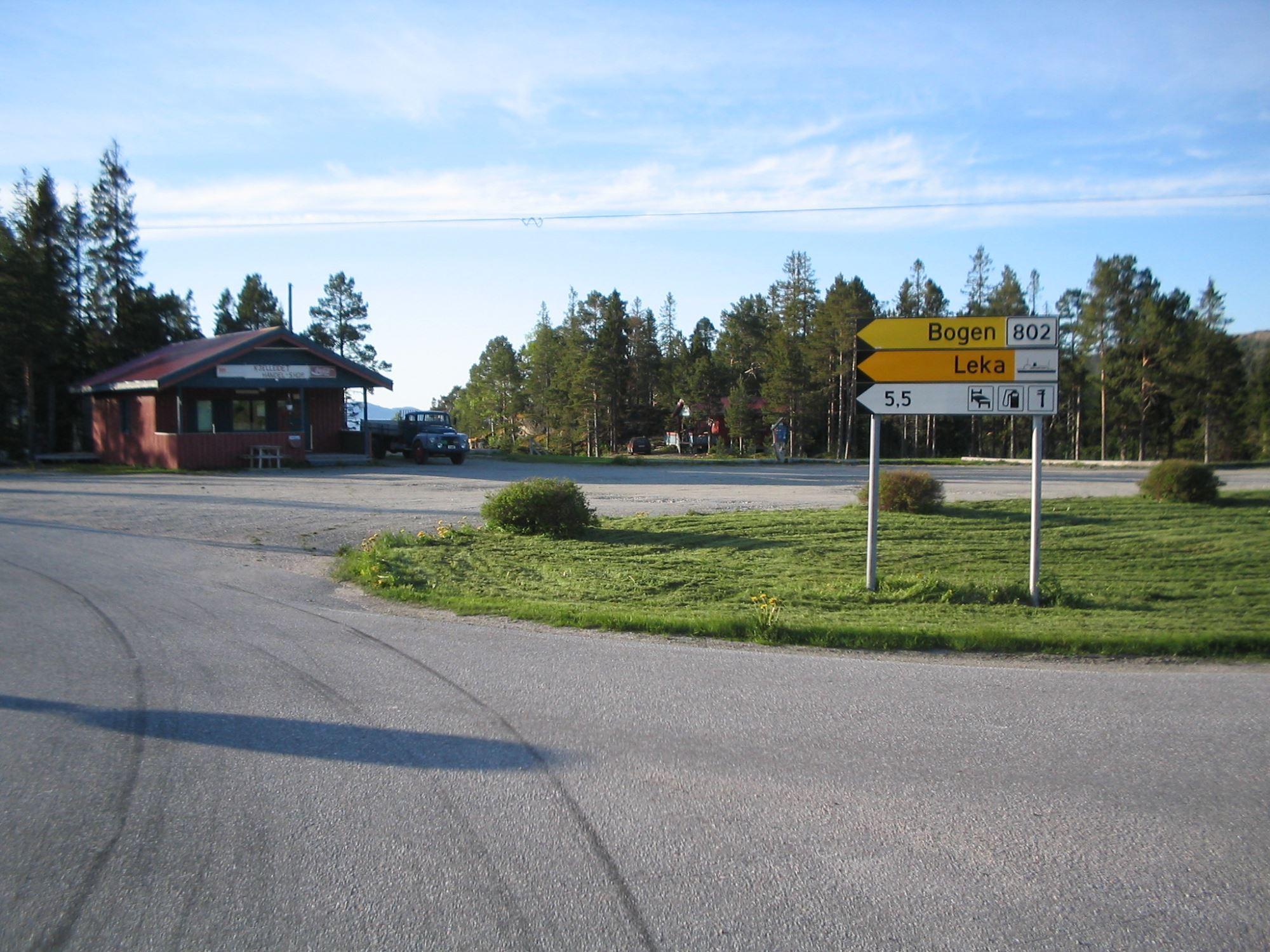 Kjelleidet camping ligger i krysset krysset mellom FV17 og FV751